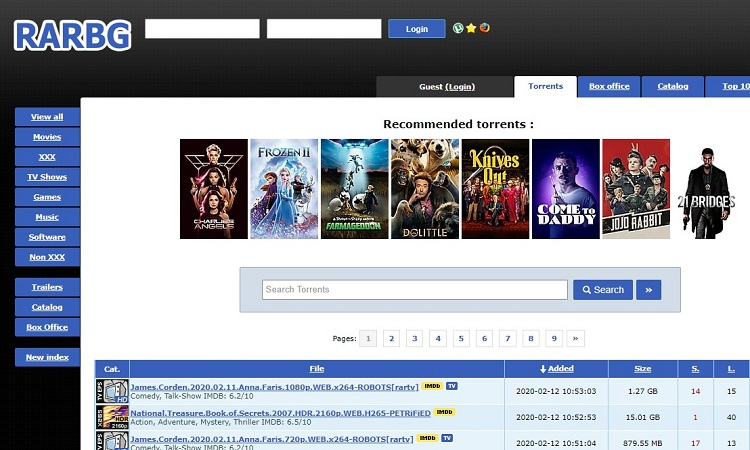 Rarbg – Torrent website to use when 1337x.to isn't working